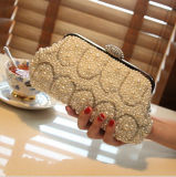 Elegant Pearl Crystal Wedding Evening Party Clutch Handbag (Dream-100074)