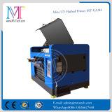 Piccola stampatrice UV del LED, stampante di Digitahi a base piatta di formato della macchina A3 per qualsiasi materiali duri, con cinque colori e l'alta risoluzione