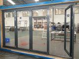 Pliage en aluminium en verre de double vitrage/porte Bifold/porte de Bifolding