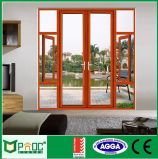 Двери Casement деревянного зерна алюминиевые с сертификатами As2047