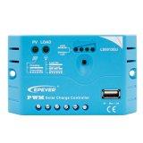 Contrôleur solaire de charge d'Epever PWM 5A 12V avec fondre positif courant de modes de contrôle de chargement pour 30V maximum