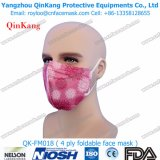 Máscara de poeira Liso-Dobrada ínfima descartável do respirador N95 protetor anti