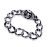Jóia de aço Titanium da forma da estrela dos braceletes dos homens do crânio do punk