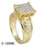 다이아몬드를 가진 925 순은 보석 반지