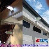 Sistema al aire libre de la luz LED de la pared de la energía solar de la eficacia alta al aire libre