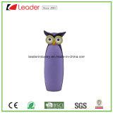 紫色の陶磁器のフクロウの置物