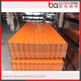Hoja de acero acanalada revestida galvanizada del cinc de los materiales de construcción para el material para techos