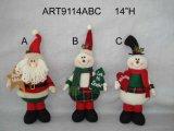 """14 """" H che si levano in piedi Santa e pupazzo di neve, decorazione di Asst-Natale 3"""