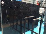 Черные естественные каменные слябы Nero Marquina мраморный для плиток настила/плакирования стены