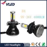 Faro massimo minimo luminoso eccellente H4 6000k dell'automobile LED del fascio 9-36V 40W 4000lm G5 indicatore luminoso del faro della PANNOCCHIA LED da 360 gradi