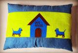 Estera hecha punto y almohadilla del animal doméstico del paño de la tela y de algodón