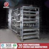 Équipement de volaille standard galvanisé à chaud, cage de poulet