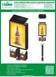 LEIDENE van de Rol van de tribune Openlucht Reclame Lightbox met Vuilnisbak