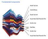 Material para techos revestido del metal de la piedra colorida/azulejo de azotea circular