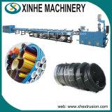 Linha de produção da Dois-Cavidade do PE/máquina do plástico da tubulação extrusora Machine/PE da Duplo-Tubulação