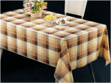 Fábrica transparente impressa PVC barata popular de Lfgbchina do Tablecloth (TJ0052)