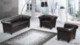 Sofá seccional de la oficina negra elegante con el pie de acero