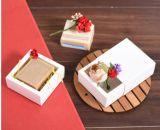 Caja de regalo de encargo profesional blanca con alta calidad