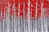 Handgemachtes Wiedergabe-Eindrucks-Ölgemälde für Bäume