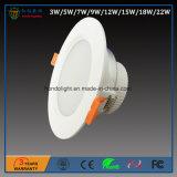 높은 빛난 산출 및 저조도 감퇴를 가진 7W LED Downlight