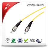 Sc-Sc do cabo de correção de programa com palavra simples 3.0mm da fibra óptica G657A1