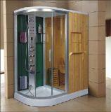 シャワー(AT-D1710BF-1)との1700mmのセクターの蒸気によって結合されるサウナ