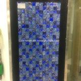 Голубым треснутая льдом мраморный и стеклянная плитка мозаики (15*15)