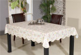 Tablecloth impresso PVC do estilo do teste padrão do plástico com revestimento protetor (TJD110)