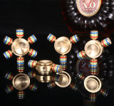 Jouets de décompression Gyro à bout en bout à trois pointes Alliage de cuivre pur