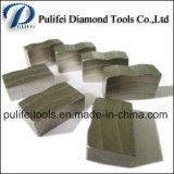 돌 절단기를 위한 장방형 다이아몬드 세그먼트 화강암 절단 세그먼트