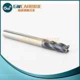 2/4 cortador HRC45-50 del molino de extremo del carburo de las flautas