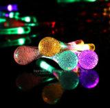 Da gota Multi-Color ao ar livre da água do diodo emissor de luz luzes feericamente recarregadas solares da corda do diodo emissor de luz