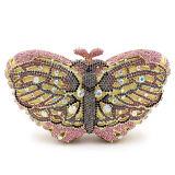 La farfalla pura Stone&Rhinestone di cristallo di Handmake dei sacchetti di sera di modo insacca Leb740