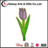 Pin en cristal d'étiquette de mode de forme faite sur commande de fleur