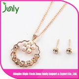 Collana del cristallo della catena del metallo delle signore della perla delle collane del partito