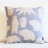 북유럽 작풍 의자 방석 베개가 만화 장식적인 동물에 의하여 장식 집으로 돌아온다