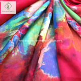 Colorer Madame brumeuse Fashion Silk Scarf d'écharpes de plage d'impression de passage