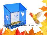 Alimentador de acrílico del pájaro de la ventana de Yyb con los orificios de dren