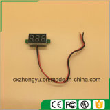 "V20d 0.36 "" 2개의 철사 (색깔을%s 가진 LED DC 3.0-30.0V 디지털 표시 장치 전압계: 백색)"