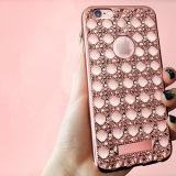 Het galvaniseren het Geval van de Diamant TPU van het Agaat voor iPhone 6 plus