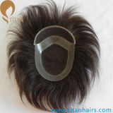 Invisible Knots Swiss Lace Indian Remy Hair Toupee
