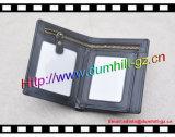 RFID преграждая бумажник людей, неподдельный бумажник людей кожи Cowhide разделения с карманн застежки -молнии внутрь