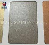 灰色のステンレス鋼装飾的なシートの版の十字ヘアラインによってブラシをかけられるBeadblasting
