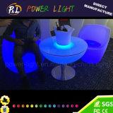 PET materieller Plastik-LED beleuchteter runder Tisch
