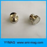 Bouton magnétique de bureau plaqué par métal