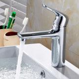 Flg Chrom-Hahn-Badezimmer-Behälter-Bassin-Hahn-einzelner Griff