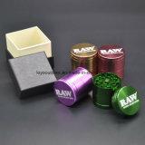 담배 나물 향미료 선반 쇄석기를 가진 알루미늄 깔때기 분쇄기
