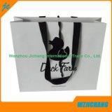 カスタムロゴの贅沢なハンドメイドの黒く熱い押す紙袋
