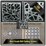 Façade faite de panneaux en aluminium perforés avec des modèles personnalisés