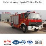camion de pompiers sec Euro3 de poudre de 5ton Dongfeng 153